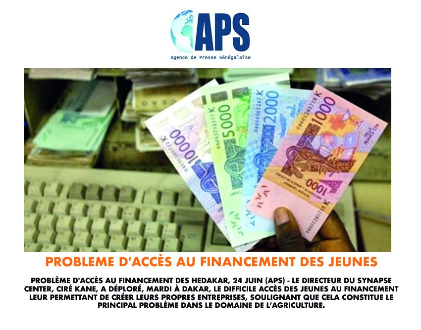 Problème d'accès au financement des jeunes